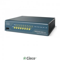 Firewall Cisco com Security Plus, 8 Portas LAN, 10/100, 1 Porta serial, ASA5505-SEC-BUN-K8