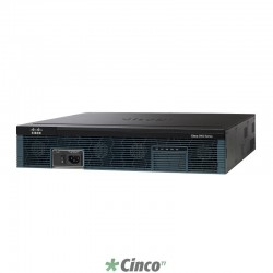Roteador Cisco, 3 portas Wan 10/100/1000, CISCO2921/K9