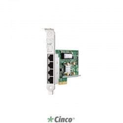 Adaptador de Rede Hp, PCI Express 2.0, 4 portas Gigabit Ethernet, 1 Gbps, 647594-B21