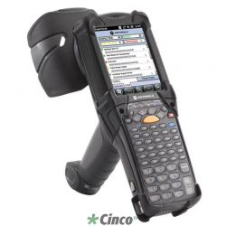 Coletor MC9090 GUN, RFID Gen 2, 802.11 a/b/g, Imager, Color, 64/128MB, 53 teclas, Bluetooth, WM5.0