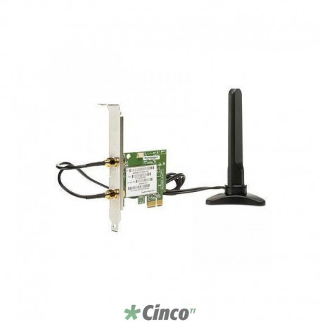 Placa de Rede Wireless HP, 802.11 B/G/N, 1 antena, 300 Mbps, FH971AA