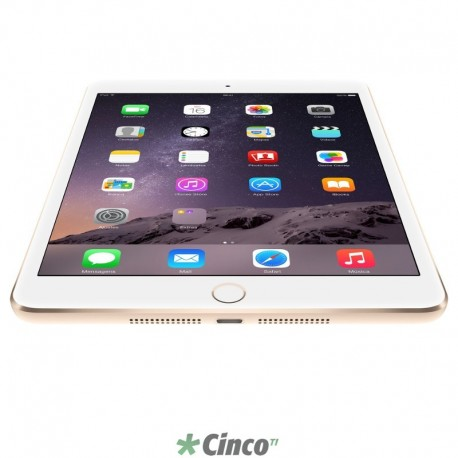 Tablet Apple Ipad Mini 3 Mgyr2br/a Dourado 16gb 4g