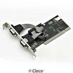Placa PCI 2 seriais RS232 (DB9M) - Full 120mm + Slim 80mm F1122HW