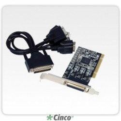 Placa Multiserial PCIe 4 seriais RS422/485 (DB9M) - Full 120mm + Slim 80mm F2441e