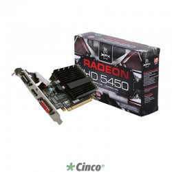 Placa de vídeo VGA XFX AMD ATI Radeon HD5450 1GB DDR3 64-Bit PCI-Express 2.1 x16 HD-545X-ZQH2