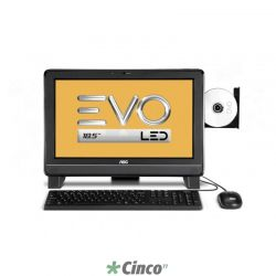 Microcomputador AOC EVO 9425U-DA181 18.5in AMD E-300 2G 500G DVDRW Win7