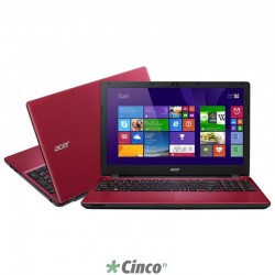 "Notebook Acer (E5-571-34DV) 15.6"" 4GB 500GB Intel Core i3-4005U Win 8.1 NX.MRAAL.007"