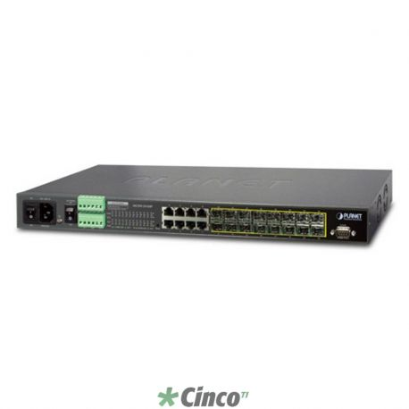 16-Port 100/1000Base-X SFP + 8-Port 10/100/1000Base-T L2/L4 Managed Metro Ethernet Switch
