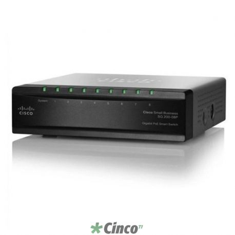Cisco Switch Gerenciável SG200 8 portas Gigabit