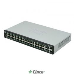 Switch Cisco SRW2048-K9-BR 50 Portas 10/100/1000 + 2 mini-GBIC